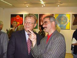 Dr. Ambrosi im Gespräch mit Chefredakteur Wolfgang Poms