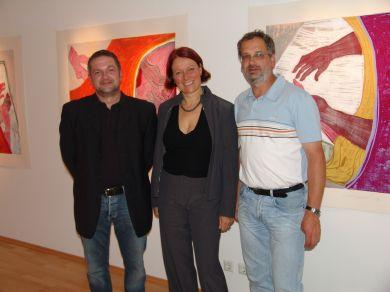 Lisa Huber mit Ralf Röll und Berndt Kulterer